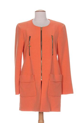 akoz vestes femme de couleur orange