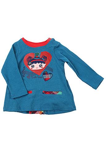 tuc tuc tuniques fille de couleur bleu