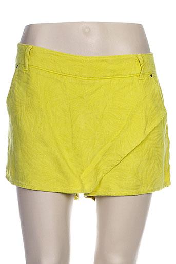 salsa shorts / bermudas femme de couleur jaune