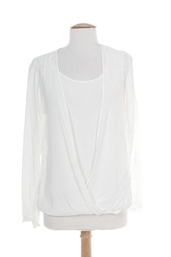 rose electron chemises femme de couleur blanc