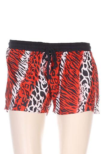 wild collection shorts / bermudas femme de couleur rouge