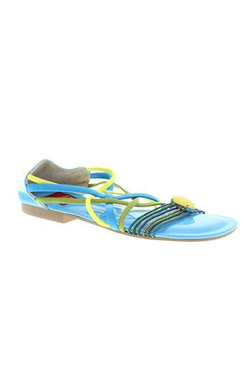 bijou et de et pied sandales et nu et pieds femme de couleur bleu