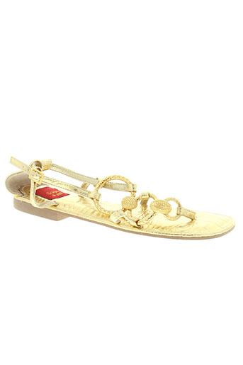 bijou de pied chaussures femme de couleur jaune