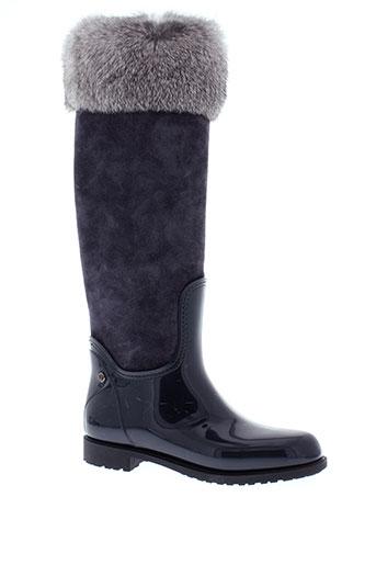 menghi bottes femme de couleur gris