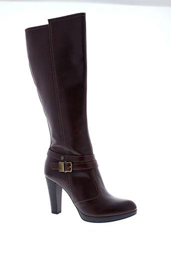 nero et giardini bottes femme de couleur marron