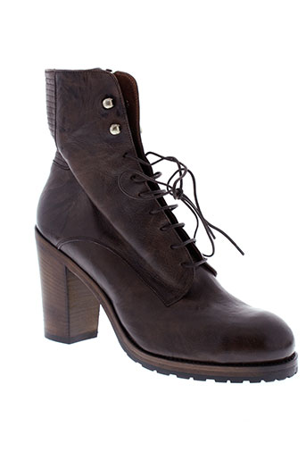 ink et shoes boots femme de couleur marron