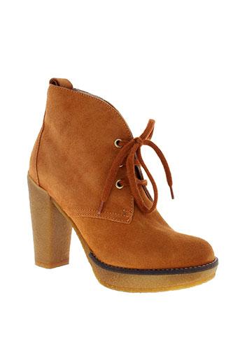serafini chaussures femme de couleur orange