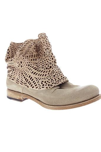 ink et shoes boots femme de couleur beige