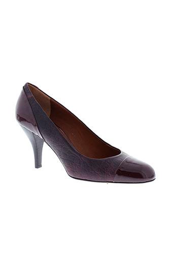 mugnai chaussures femme de couleur rouge