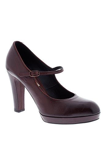 alberto fermani chaussures femme de couleur marron