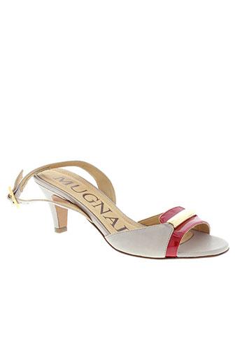 mugnai sandales et nu et pieds femme de couleur beige