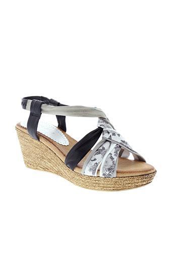 marila sandales et nu et pieds femme de couleur gris
