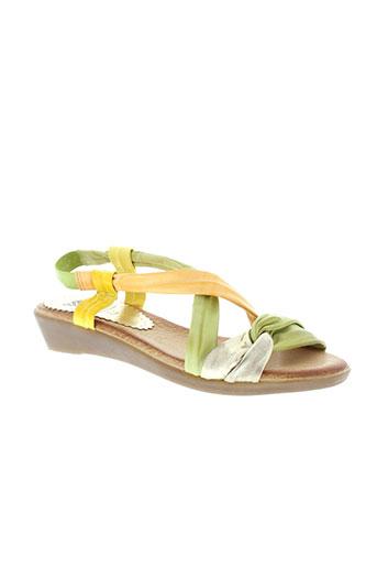 marila sandales et nu et pieds femme de couleur vert