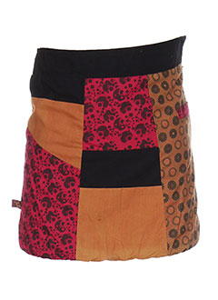 Jupe mi-longue orange BAMBOO'S pour fille