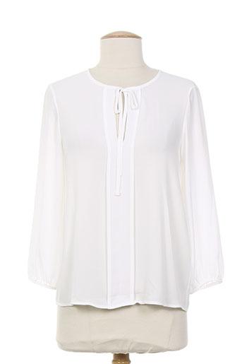 blanc boheme chemises femme de couleur beige