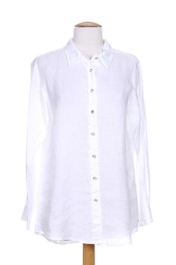 blanc boheme chemises femme de couleur blanc