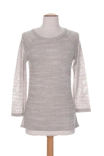 blanc boheme pulls femme de couleur gris