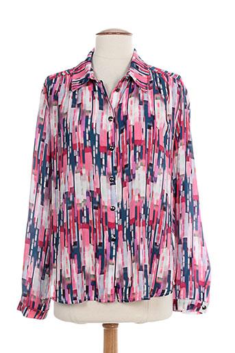 anne kelly chemises femme de couleur rose