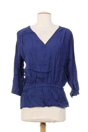 mamouchka chemises femme de couleur bleu