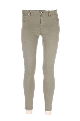 denim et avenue pantalons et decontractes femme de couleur vert