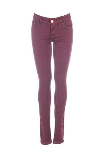 r.display pantalons femme de couleur violet