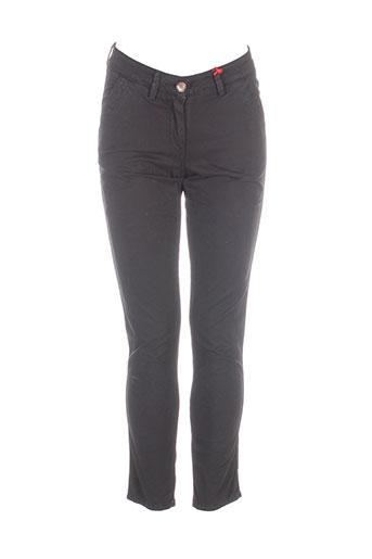 red-tag pantalons femme de couleur noir