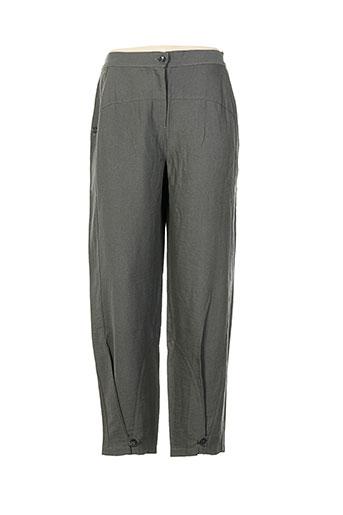 cannisse pantalons femme de couleur gris