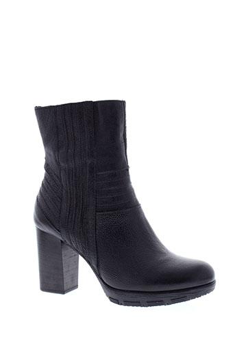 mjus bottines femme de couleur noir