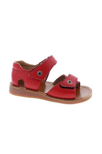 pom et d et api sandales et nu et pieds fille de couleur rouge