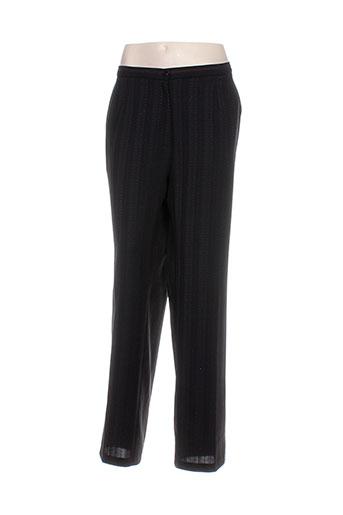 lisa chesnay pantalons femme de couleur noir