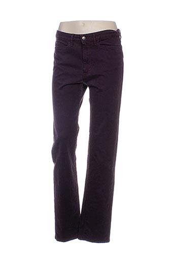 pauporté pantalons femme de couleur violet