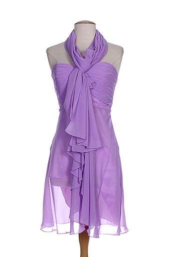 Robe mi-longue violet FASHION NEW YORK pour femme