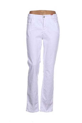 ascari pantalons femme de couleur blanc