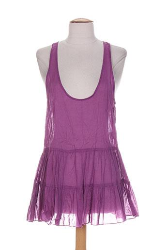 accostages tuniques femme de couleur violet (photo)