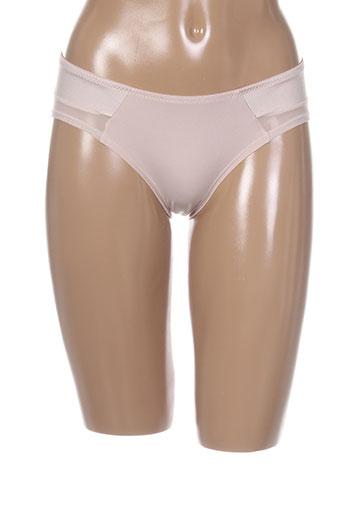 amoralia slips et culottes femme de couleur beige