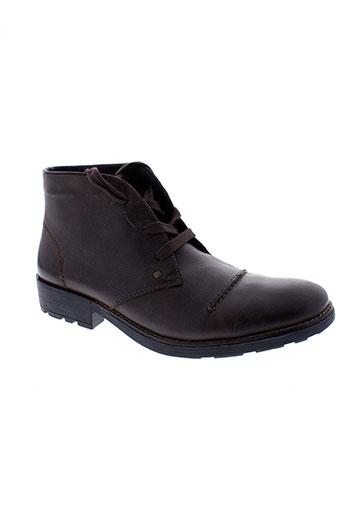 rieker boots homme de couleur marron