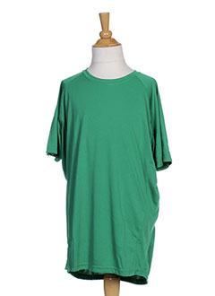 T-shirt manches courtes vert SPALDING pour garçon