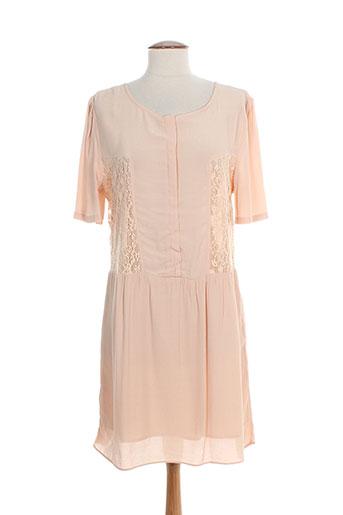 suncoo robes femme de couleur rose