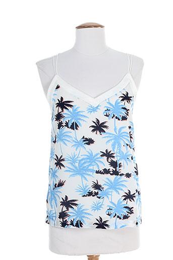 suncoo chemises femme de couleur bleu