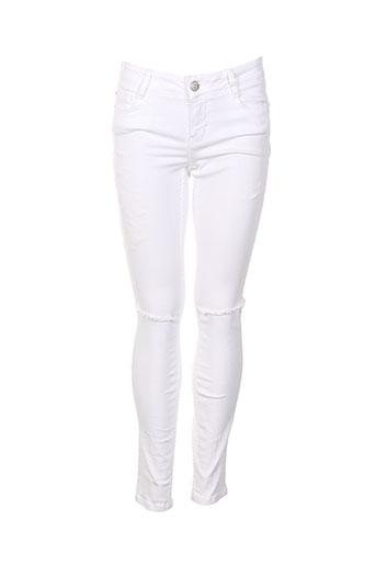 nvy denim pantalons femme de couleur blanc