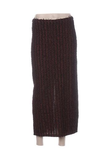 Jupe longue marron FABRICE KAREL pour femme