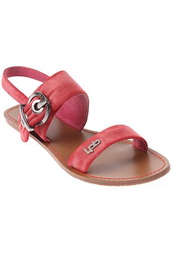 les et p et tites et bombes sandales et nu et pieds femme de couleur rouge