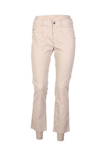 one step pantalons femme de couleur beige