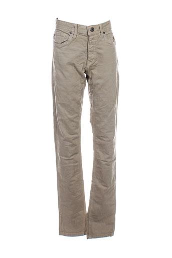 jack et jones pantalons et decontractes homme de couleur beige