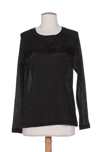 anna studio t et shirts et tops femme de couleur noir