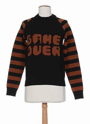 Sweat-shirt marron AMERICAN RETRO pour femme