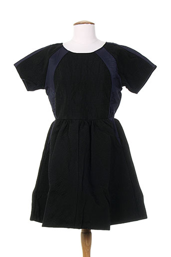 Robe mi-longue noir DRESS GALLERY pour femme