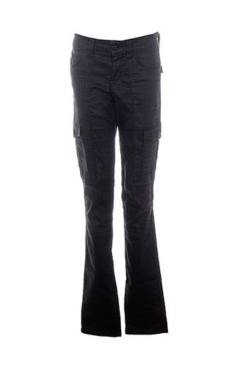 reiko pantalons femme de couleur noir