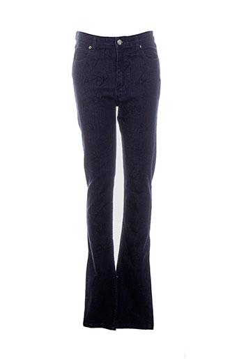 Jeans coupe droite bleu AMERICAN RETRO pour femme