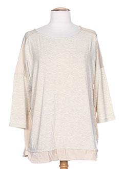 T-shirt manches longues beige VERO MODA pour femme